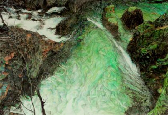 By the Lower Falls Glen Nevis. Painting. Watercolour.